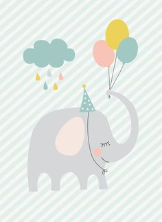 66 Ideas For Birthday Happy Design Art Baby Wallpaper, Birthday Wallpaper, Designer Baby, Happy Design, Elephant Illustration, Cute Illustration, Baby Posters, Cute Poster, Paintings