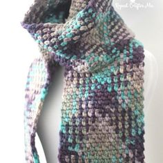 Crochet Planned Color Pooling Scarf