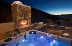 Yes please! I would kill to have that fireplace and hot tub in my backyard someday! Life would be relaxing!
