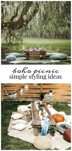 Boho Picnic Simple Styling Ideas
