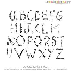 SHCO Confectionery - CU - Doodles/Brushes - Jumble Stamps {CU} Join at http://www.sugarhillco.com/cc