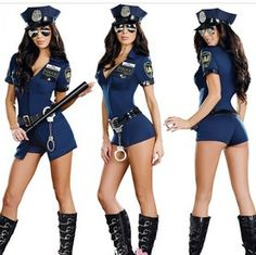 Adult Women Sexy Lingerie Navy Blue Police Policeman Cop Officer Sheriff Costume Fancy Dress Up Halloween Party Dress on Aliexpress.com | Alibaba Group