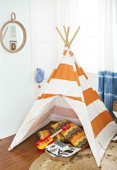 A Totally Rad Kid's Room Makeover // boys room, teepee
