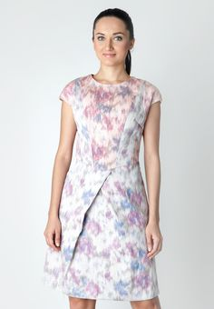 Tenun Combination Dress With Asymmetric Front Slits