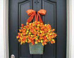 Spring Tulips Farmhouse Tulips XL Front Door by twoinspireyou