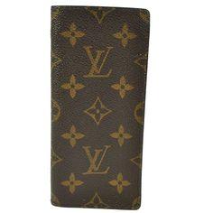 Authentic Louis Vuitton Glasses Case Monogram Leather Porch Vintage M05451 150