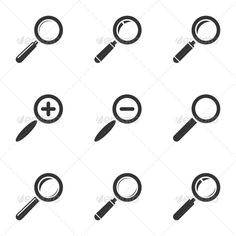 Magnifying Glass Icon Set — JPG Image #tool #design • Available here → https://graphicriver.net/item/magnifying-glass-icon-set/5972381?ref=pxcr