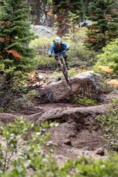 Going for the gap. Trail: Boondocks - Northstar California Mountain Bike Park