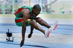 Nelson Évora campeão olímpico do triplo salto em 2008 e campeão mundial em 2007. - Benfica e Portugal