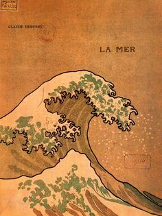La Mer -Post card, 1905  Author unknown