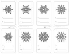 8 Printable Snowflake Gift Tags Gray Gift Tags Christmas