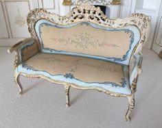 Table 1:12 Dollhouse bespaq belmont blue by Jeanetminaturen