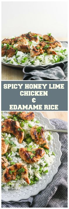 Spicy Honey Lime Chicken & Edamame Rice and a Review of Terra's Kitchen……
