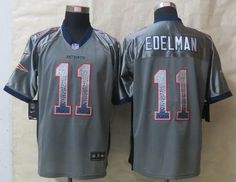 Nike New England Patriots 11 Julian Edelman Drift Fashion Grey Elite Jerseys $ 22.5