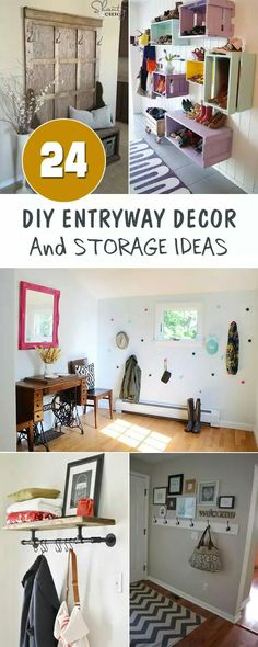 Entryway decor and storage