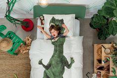 Dinosaur Duvet Cover and Pillowcase Set