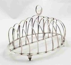 silver toast rack, London 1788