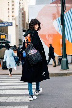 New York Fashion Week Fall 2016 Street Style - NYFW Fall 2016 (7) • Minimal . / Visual .