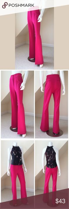"""Romeo & Juliet Couture Pants Romeo & Juliet Couture Pants...these pants are AMAZING!...thick jersey knit with the perfect amount of stretch...slim thru hips and thigh...flare style...wide waist band sits low...creased...front zip and button closure...two back pockets...poly/viscose/spandex blend...machine wash. Inseam 33"""". Size Medium. Retail $136 Romeo & Juliet Couture Pants Boot Cut & Flare"""