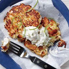 Crisp Cauliflower Fritters - Cauliflower Recipes - Cooking Light