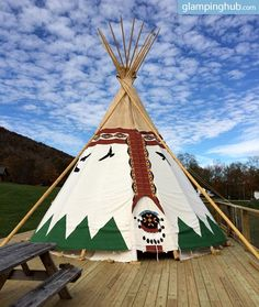 Go glamping and be eco-friendly with this tipi in North Carolina!