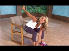 Easy Chair Exercises To Tone Your Abs And Belly From Fitness Instructor Denise Austin - Be Health And Fit Denise Austin, Fitness Workouts, Easy Workouts, Workout Abs, Reduce Belly Fat, Lose Belly Fat, Fitness Senior, Exercise While Sitting, Office Exercise