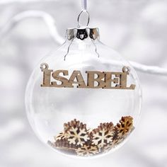 Wooden Snowflakes Personalised Christmas Bauble