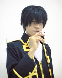 Here's a photo of me cosplaying as Hijikata Toushirou (Gintama) it was taken last week on Ganoko Kurabu's makeup class and photosession Photo by Fakhry Sidiq
