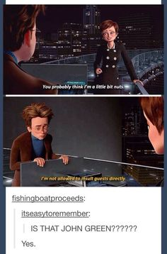 In case you don't know, fishingboatproceeds is John Green's Tumblr. :)