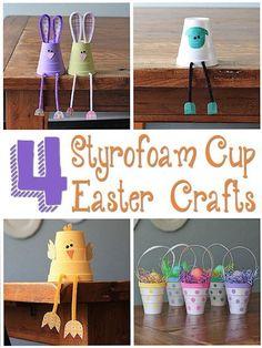 4 Styrofoam Cup Easter Crafts