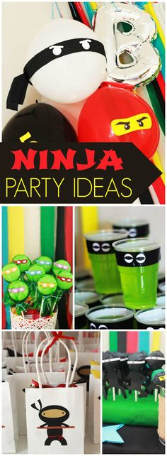 What a cool ninja themed boy birthday party!  See more party ideas at CatchMyParty.com!