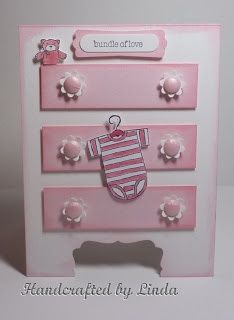 Baby card with onsie/dresser.