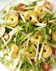 Salad with scampi, apple and curry vinaigrette – Recipes Salade Healthy, Healthy Salads, Healthy Eating, Healthy Recipes, Diet Food To Lose Weight, Salade Caprese, Happy Foods, Food Porn, Tapas