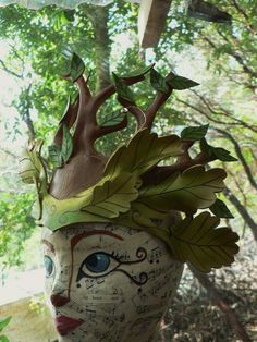 Oberon Crown forest faerie leather leaf crown by faerywhere, $145.00