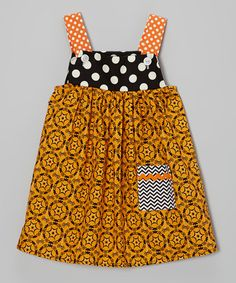 Another great find on #zulily! Orange Halloween Henrietta Jumper - Infant, Toddler & Girls #zulilyfinds