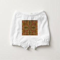 Autumn Colors Mandala Diaper Cover - rustic gifts ideas customize personalize