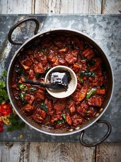 Hot & Smoky Pork Belly Vindaloo (the charcoal smoke is not necessary, it's just as tasty if you don't bother)