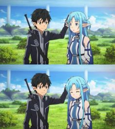 They're so cute! :3 Asuna and Kirito will always my OTP <3