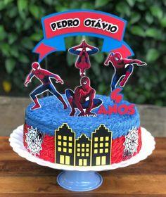 Bolo do Homem-Aranha: 75 modelos radicais e muito criativos Birthday Cake Kids Boys, Spiderman Birthday Cake, Superhero Cake, Birthday Cake Decorating, Cake Decorating Techniques, Cake Decorating Tutorials, Minion Cupcakes, Cake And Cupcake Stand, Cupcake Cakes