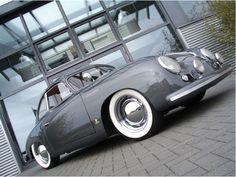 Silver Grey Porsche 356