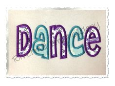 $2.95Applique Dance Machine Embroidery Design