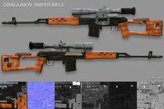 Dragunov Sniper Rifle by Beatheart Creative Studio on @creativemarket
