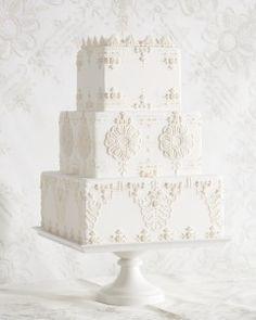 7 Handkerchief-Inspired Wedding Cakes That Are Sew Sweet  Martha Stewart Weddings