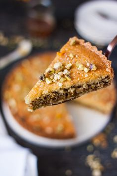 Baklava Frangipane Tart is a merging of cuisines. Italian Frangipane and Middle Eastern Baklava combine to make a tender, nutty and luscious tart.