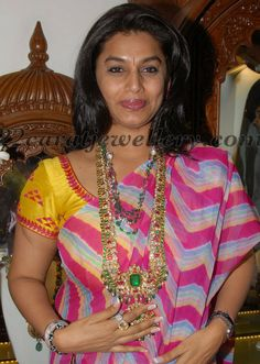 Jewellery Designs: Pinky Reddy in Karni Kundan Haram
