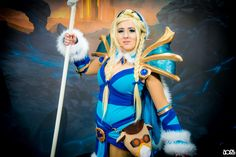 Crystal Maiden, neatly knitted Cosplay Dota #esl #cosplay