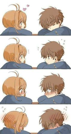 Sakura and Syaoran are really cute together lol - . - Sakura and Syaoran are really cute together lol – – manga / anime - Couple Amour Anime, Couple Anime Manga, Manga Anime, Anime Love Couple, Anime Naruto, Yandere Manga, Cardcaptor Sakura, Syaoran, Art Anime Fille
