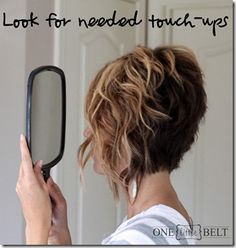 Loose Curls for Short Hair- Tutorial...You could do this with your hair I think!