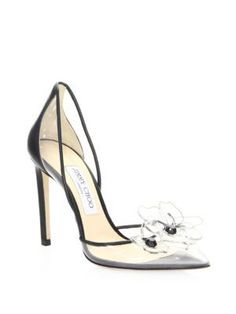 Jimmy Choo Levina Transparent Pumps In Black Sexy Heels, Stiletto Heels, High Heels, Stilettos, Shoe Boots, Shoes Heels, Shoe Shoe, Style Personnel, Giuseppe Zanotti Heels