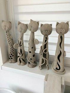 New Photos Ceramics sculpture man Popular Katzen Hand Built Pottery, Slab Pottery, Ceramic Pottery, Pottery Art, Pottery Ideas, Pottery Animals, Ceramic Animals, Clay Animals, Clay Projects